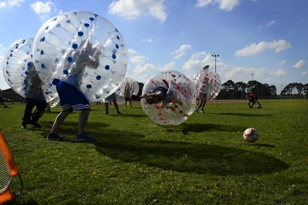 bubble ball soccer fun bouncing Miami sports fun