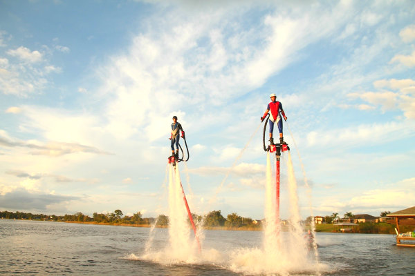waterspouts adventure Miami fly boarding hovercraft
