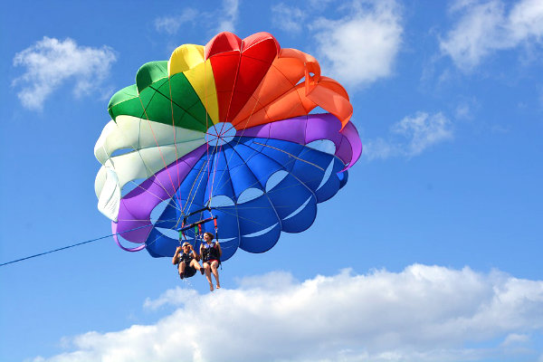 parasailing Miami watersports flying boats fun adventure activities