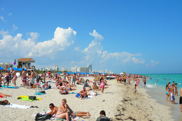 some south beach Florida crystal clear waters sun tanning play
