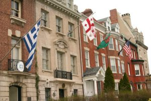 running routes along embassy row in washington dc provide a good view of different nations
