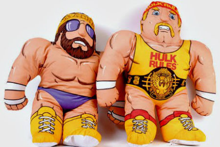 wwf and wwe wrestling buddies toy