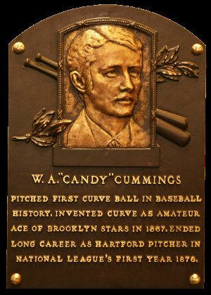 candy cummings pitched the first ever curve ball