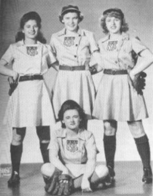 1943 girls pro baseball is created during world war 2