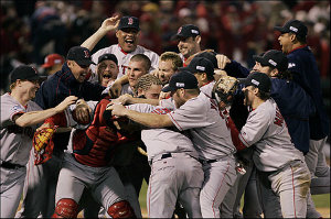 the red sox win their first world series title in 84 years