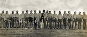 the first baseball game was played between the knickerbockers and a team of cricket players