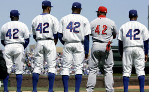 1997 the number 42 is retired from all minor and major league baseball teams