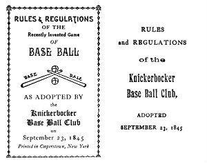 alexander joy cartweight wrote the first set of baseball rules