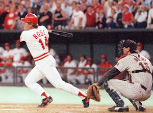 1985 pete rose breaks all time hit record of 4,192