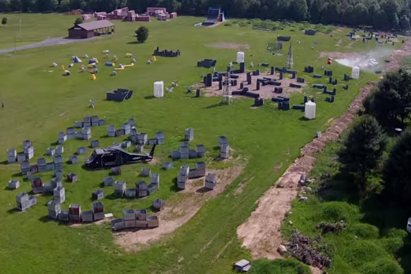 Skirmish Paintball park in Albrightsville, Pennsylvania