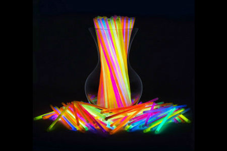a large assortment of glow sticks in various colors