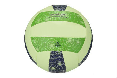 mikasa glow in the dark volleyball in green blue and white
