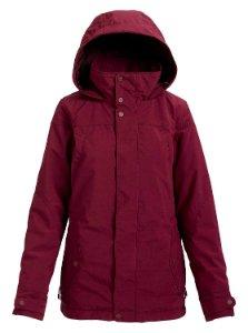 Women's maroon ski jacket