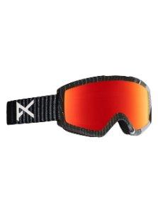 Men's orange reflective goggles