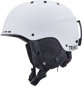 White snowboarding helmet