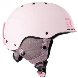 Light pink snowboarding helmet
