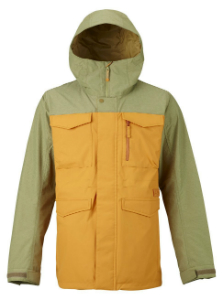 Men's green and yellow ski jacket