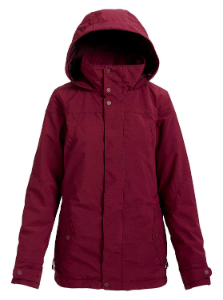 Women's maroon ski jacket